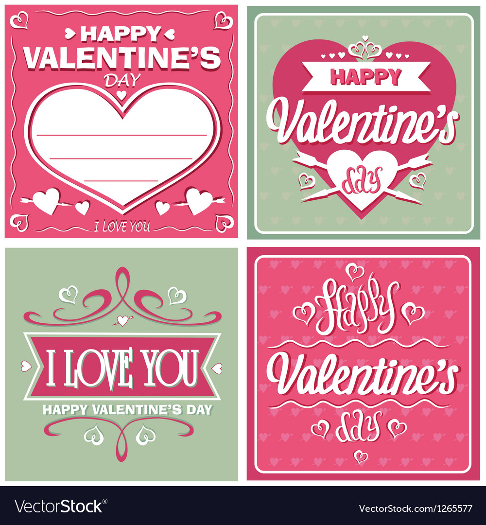 Valentines day cards vector