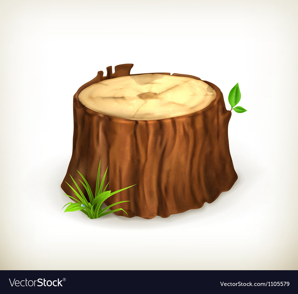 Tree stump vector