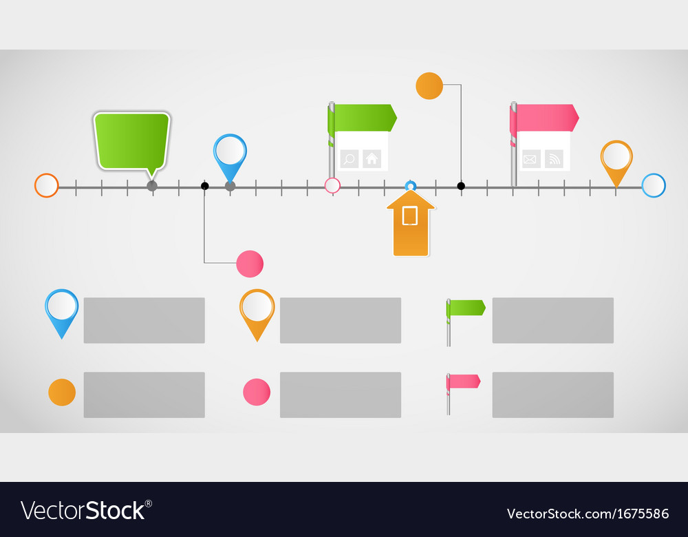 Timeline infographic business template vector by yganko - Image ...