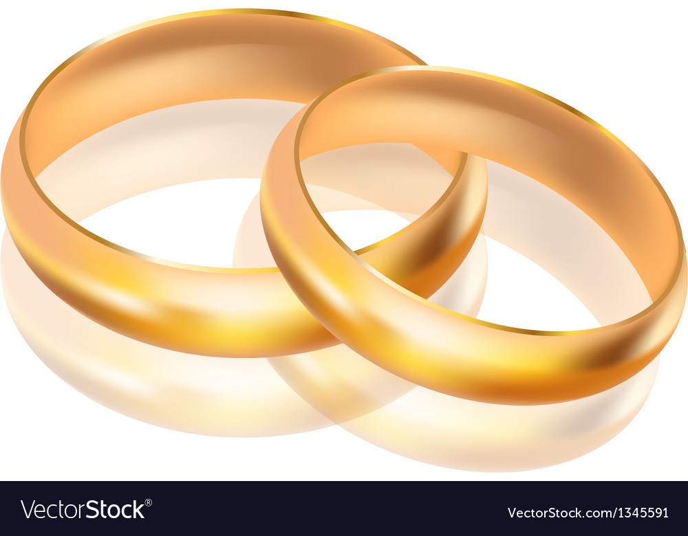 Big and small gold rings vector