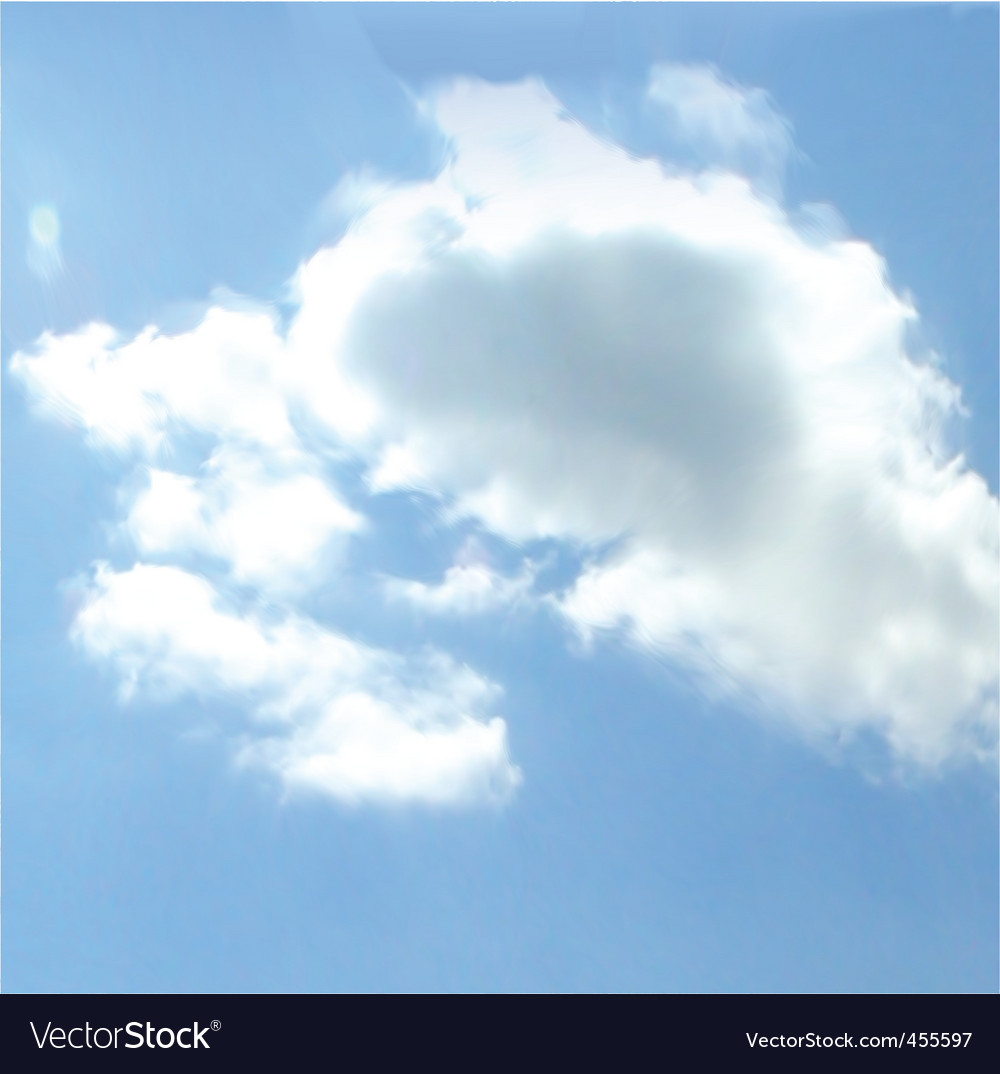 Cloudy sky background vector