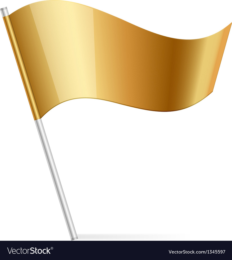 Gold flag vector