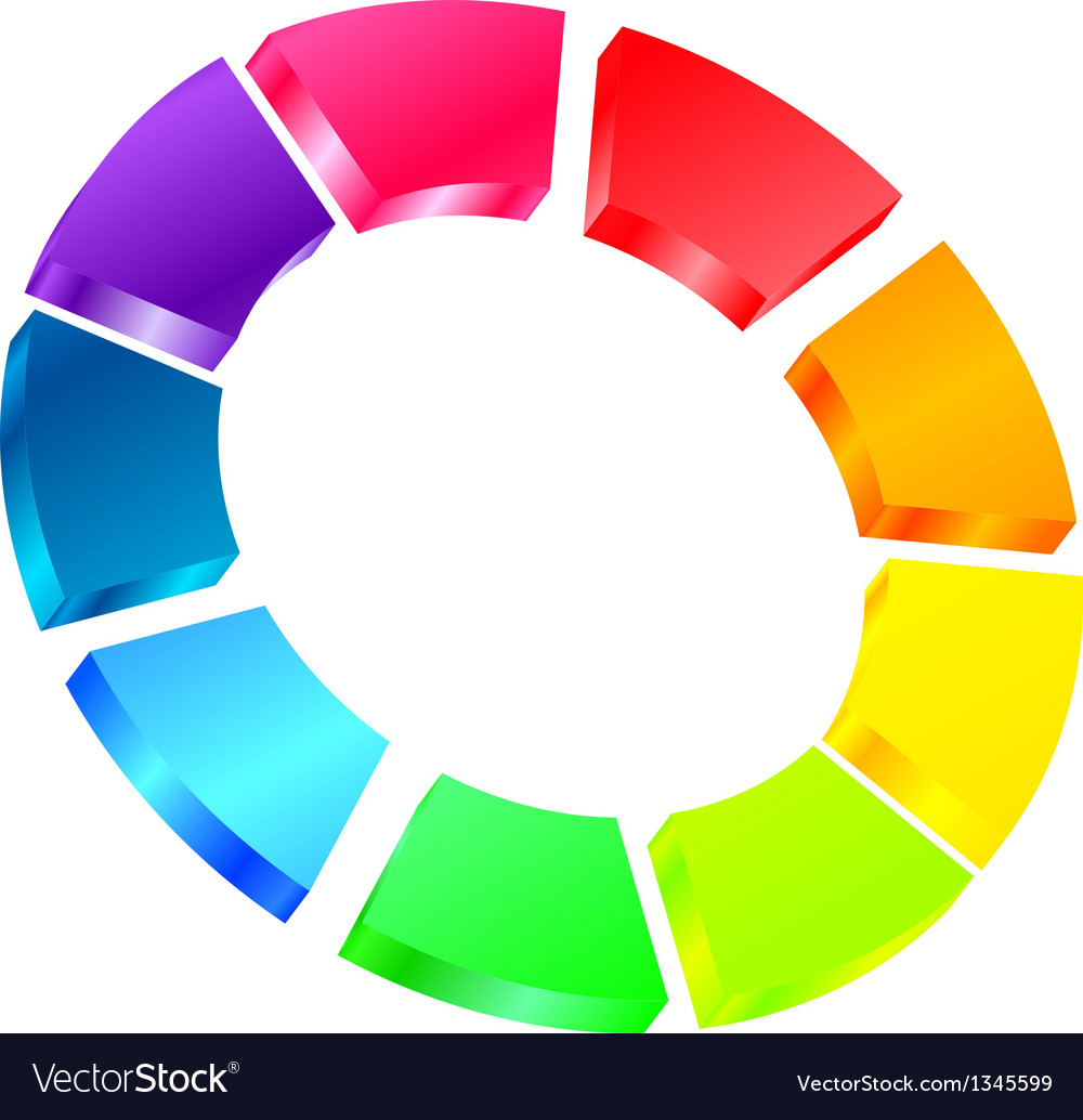 Colorful icon vector