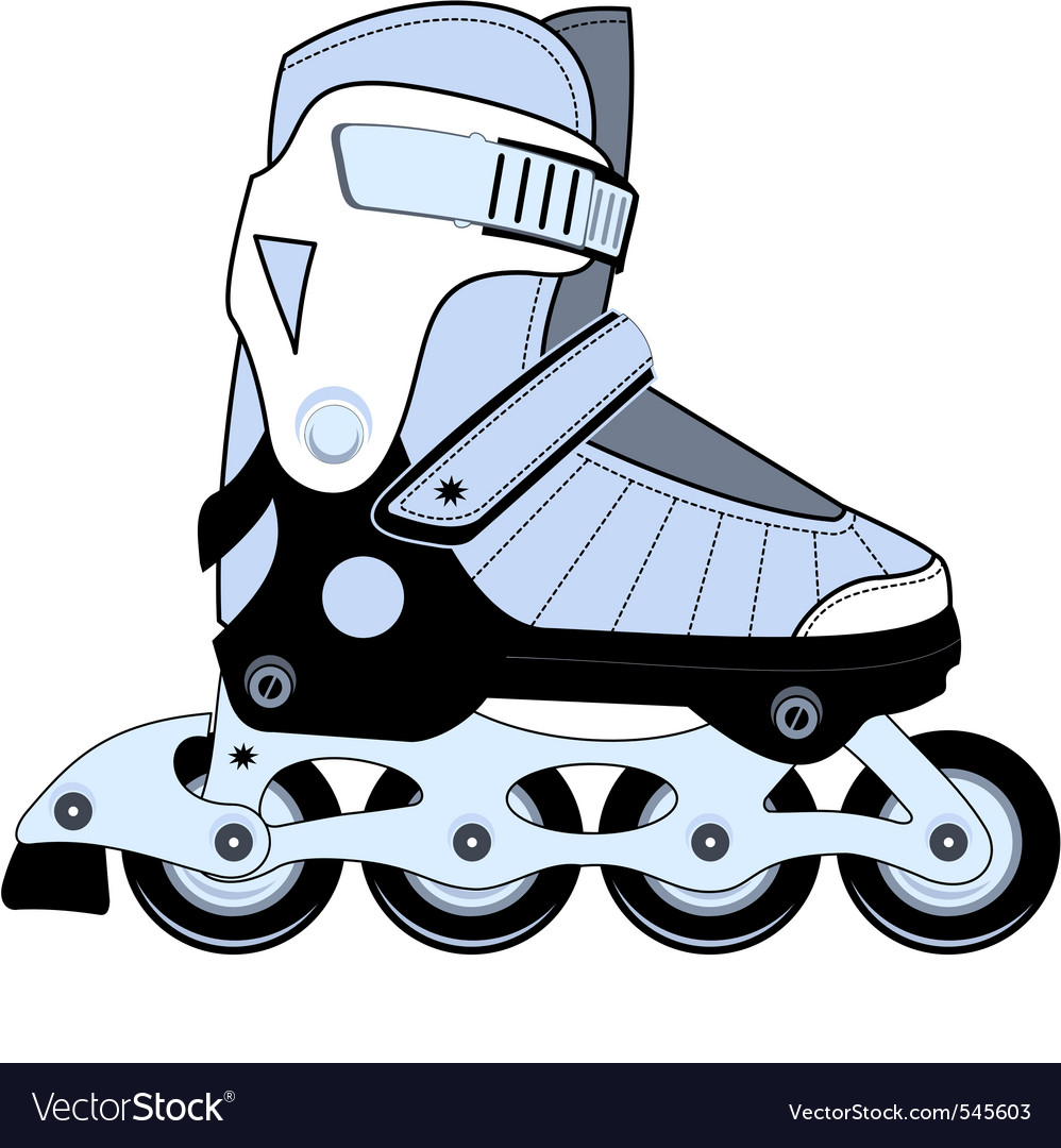 Extreme sports roller skates vector