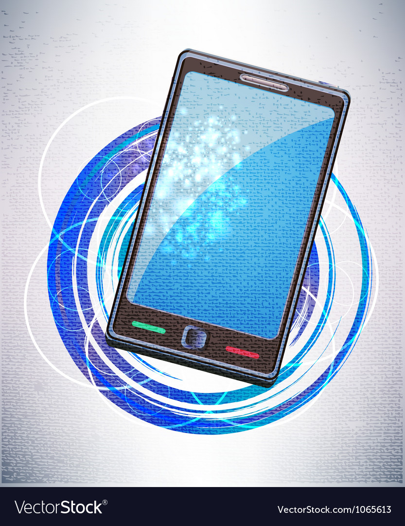 Mobile background vector