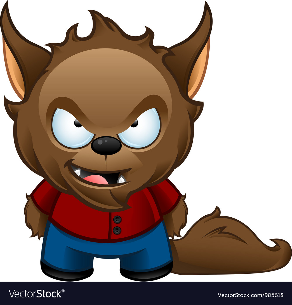 Werewolf monster bad vector
