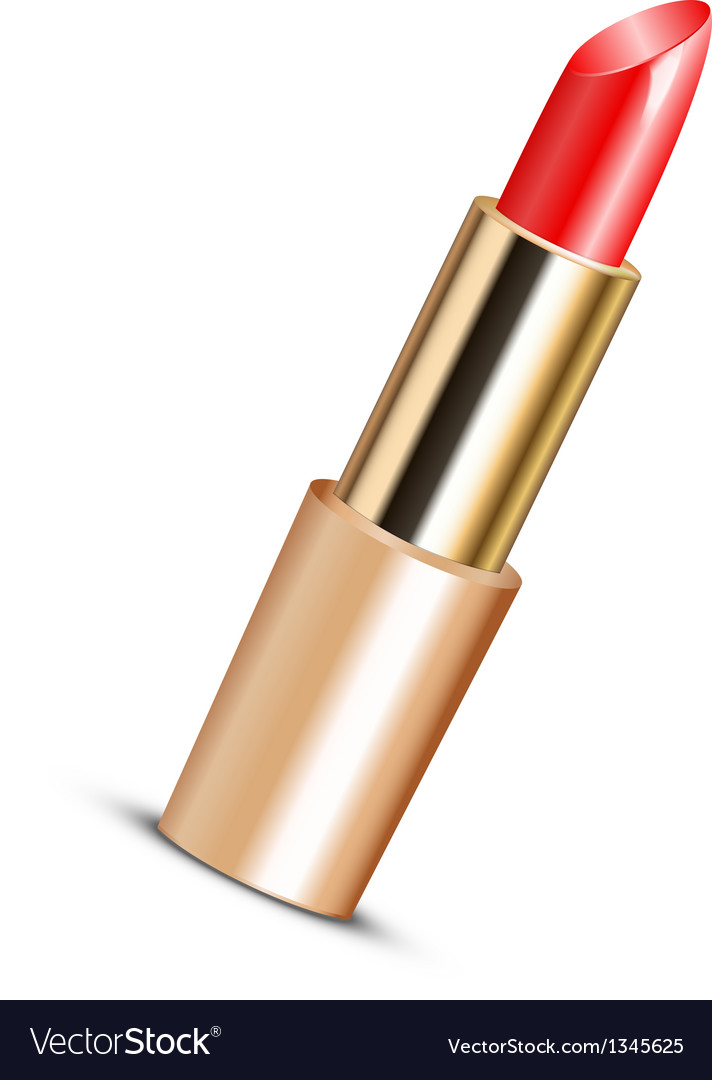 Red lipstick vector