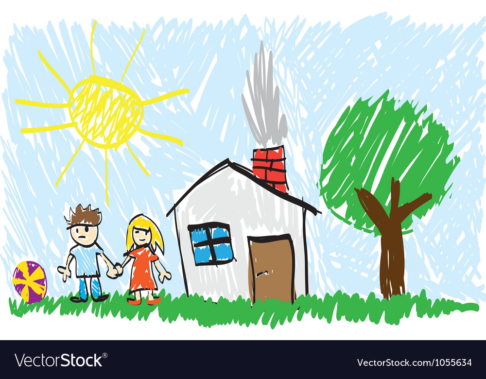 Childs painting vector