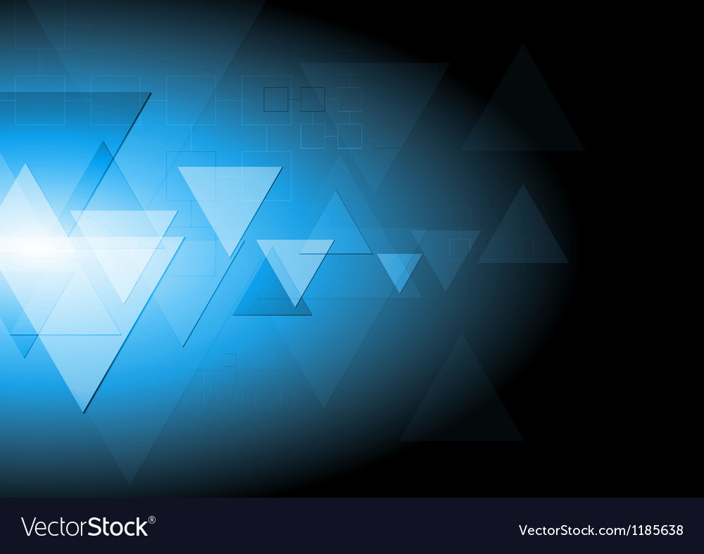 Dark blue tech background vector