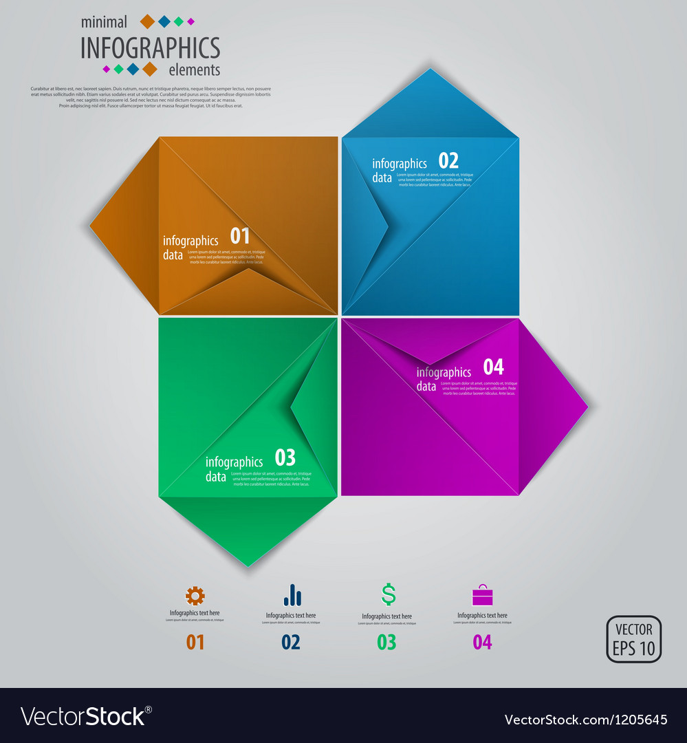 Envelope infographics design vector