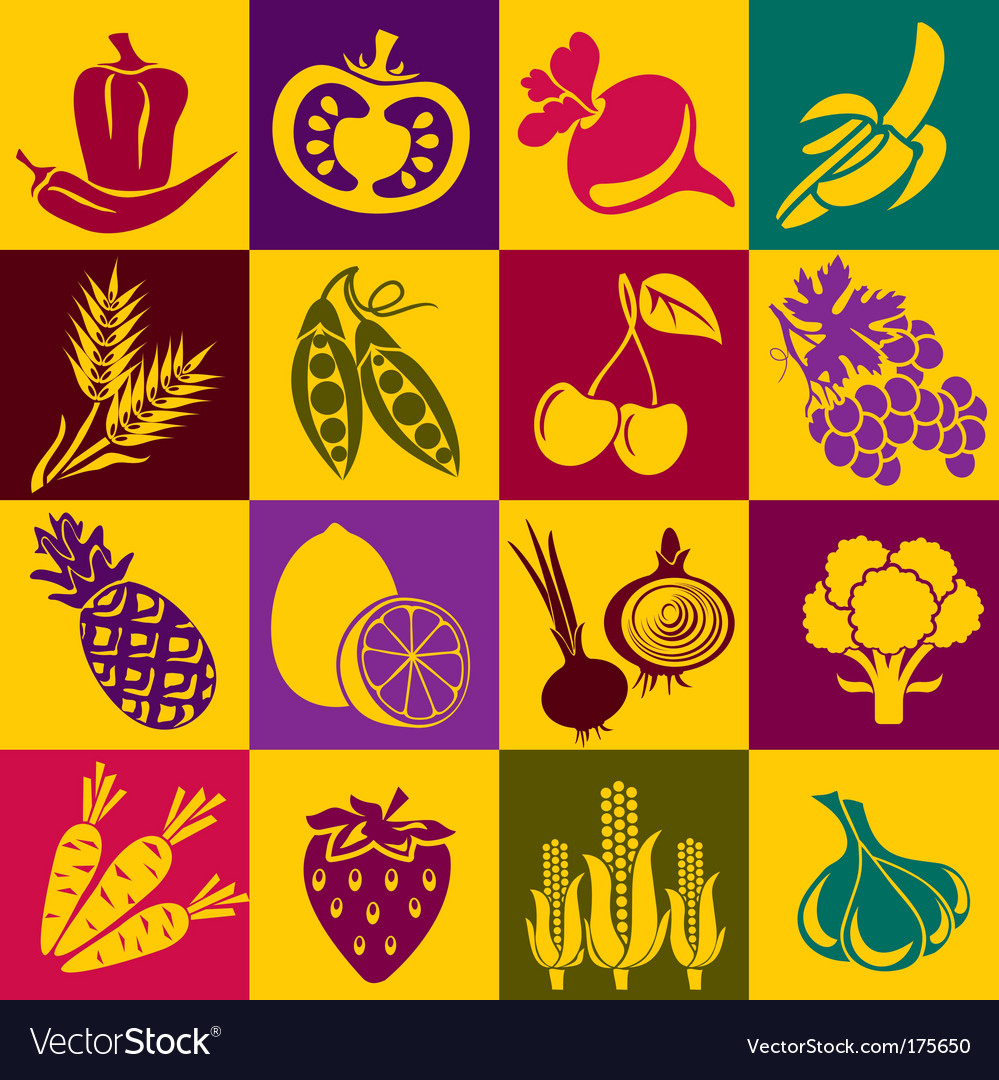 Fruitvegetables vector