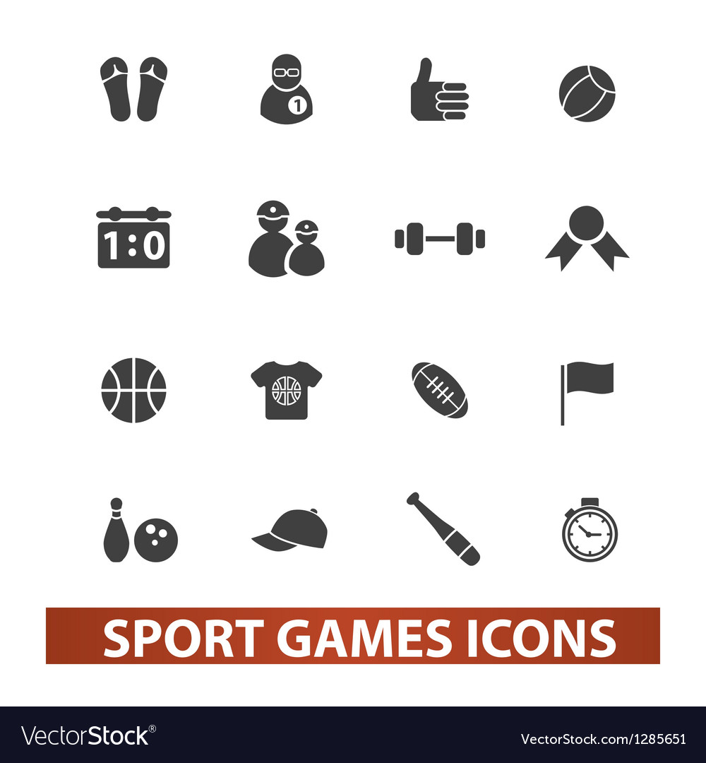 Sport games icons set vector