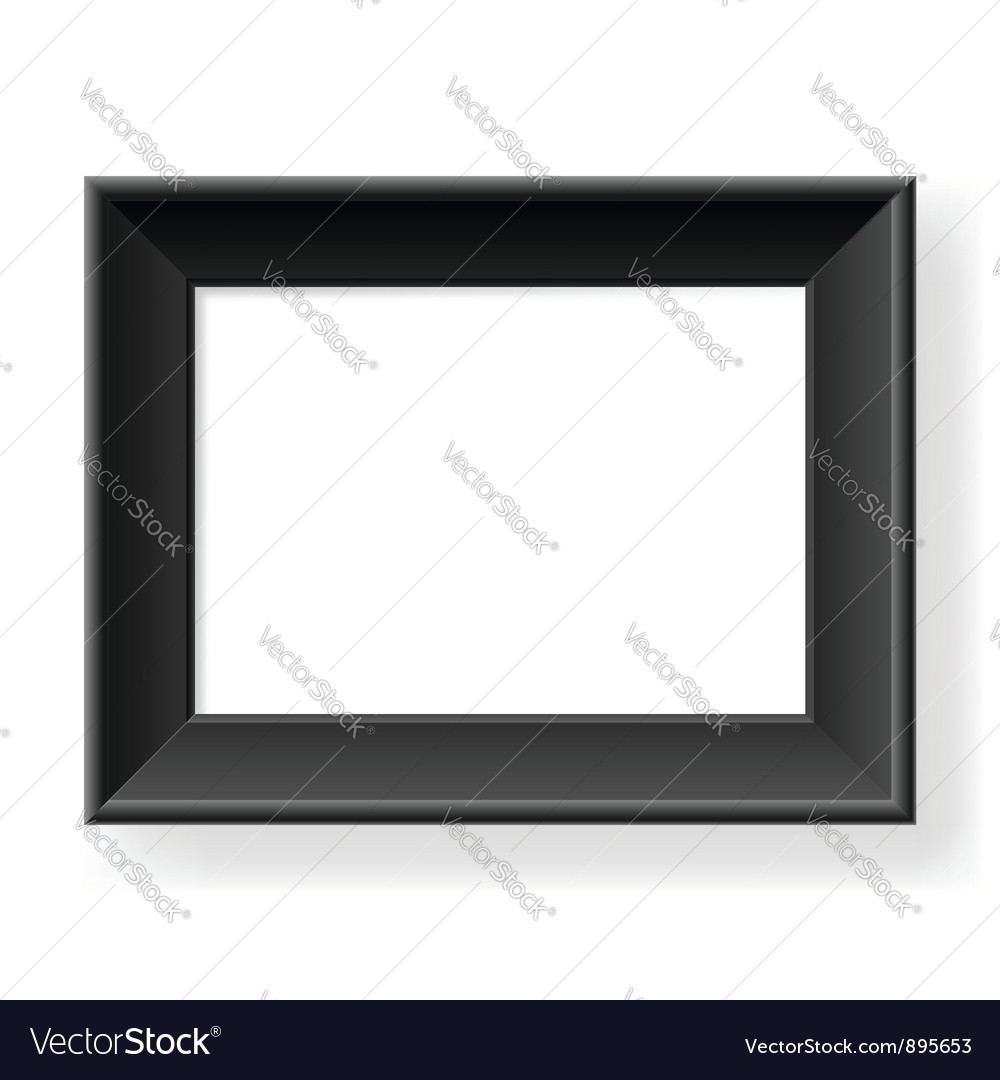 Realistic black frame vector