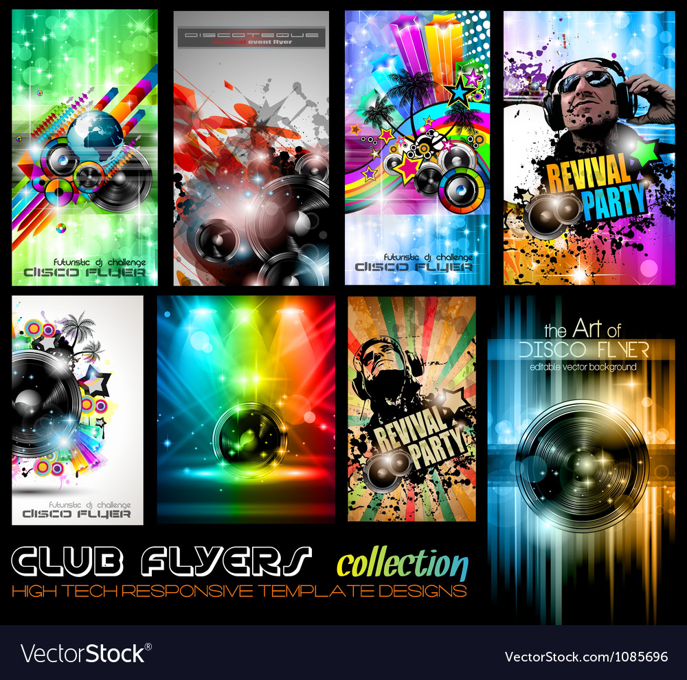 Club flyers ultimate collection  high quality vector