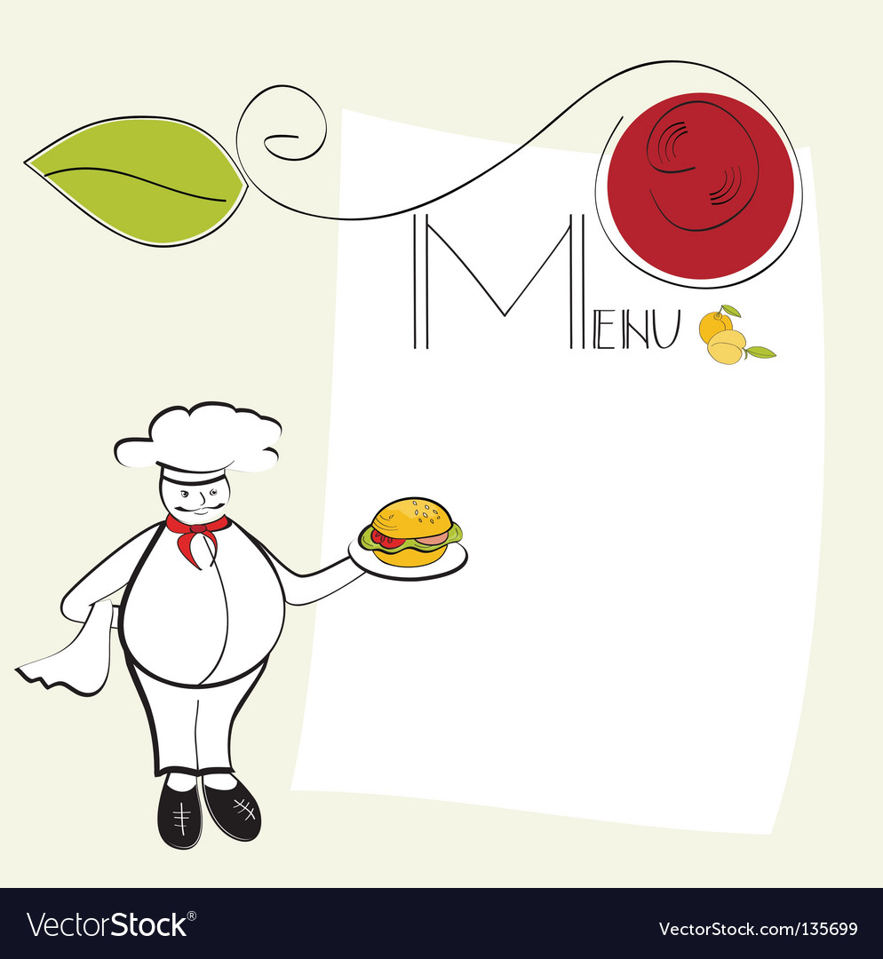 Template for menu vector