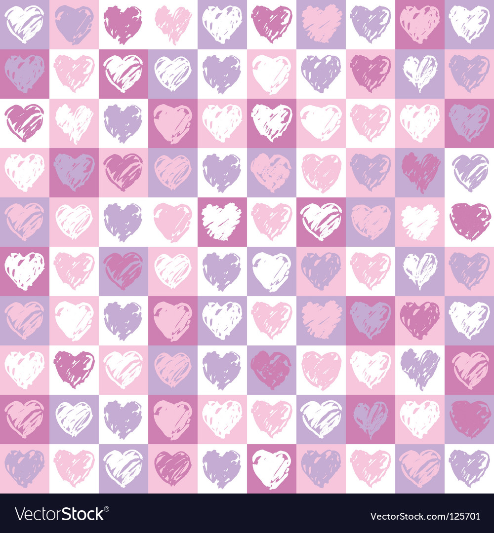 Pattern hearts vector