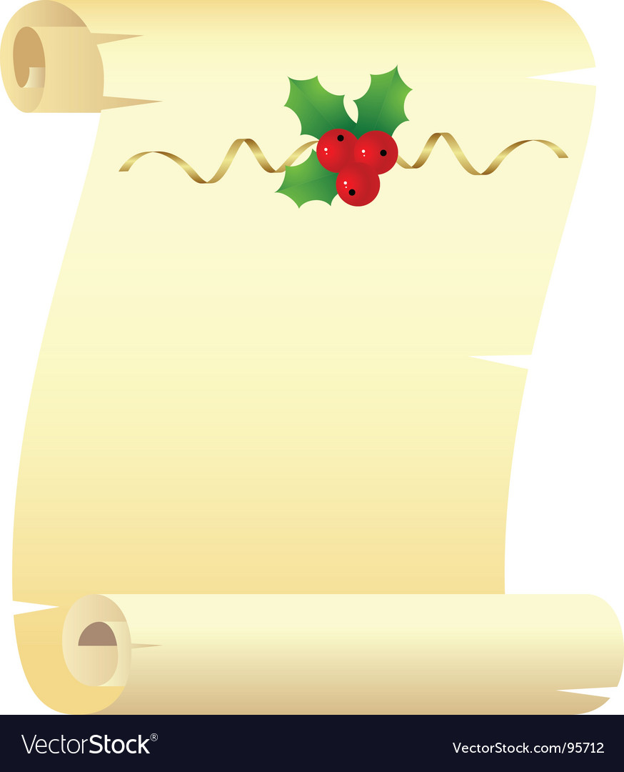 Christmas scroll vector by Nete - Image #95712 - VectorStock