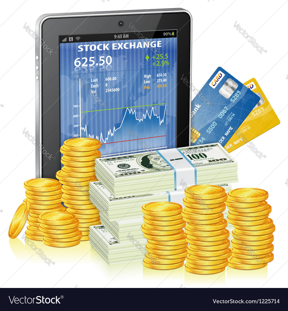 Financial concept  make money on the internet vector