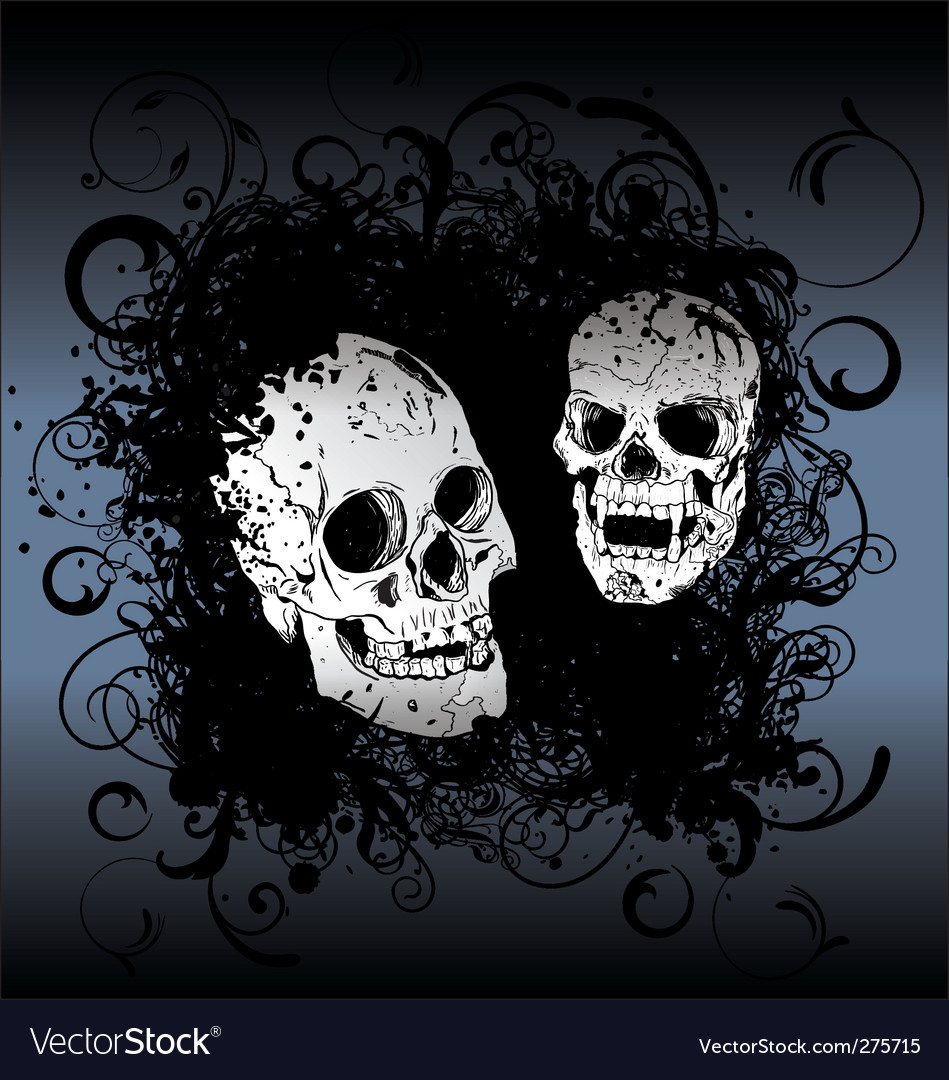 Skull tattoo background vector
