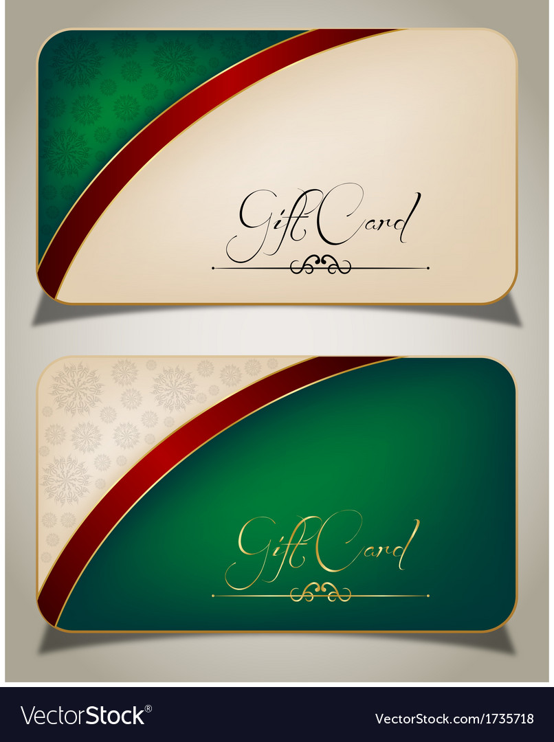 Abstract gift card vector