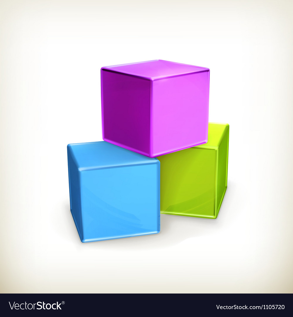 Toy cubes vector