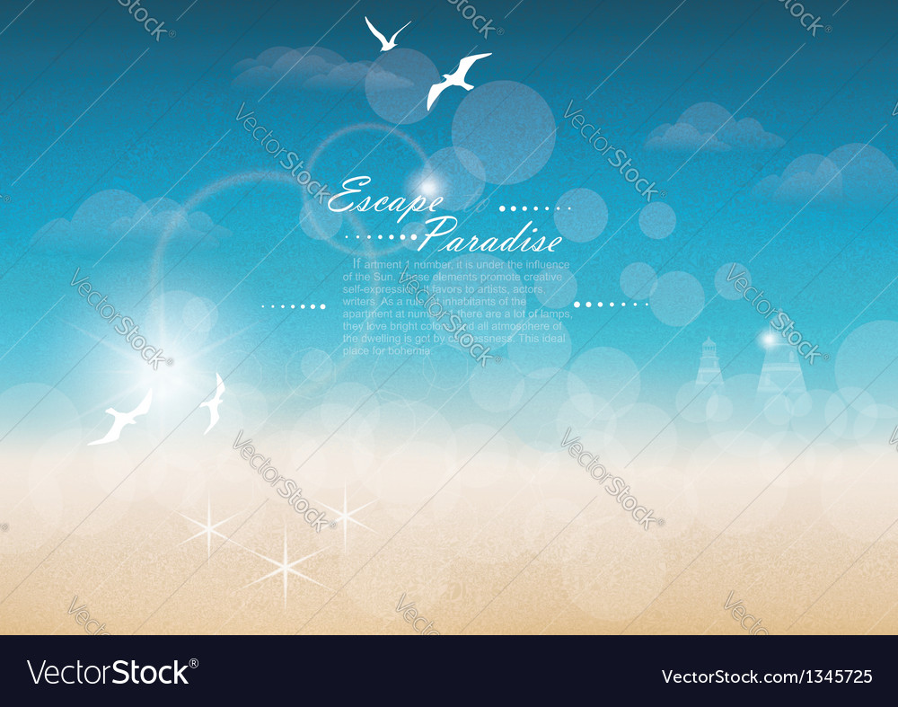 Seascape backgrounds vector