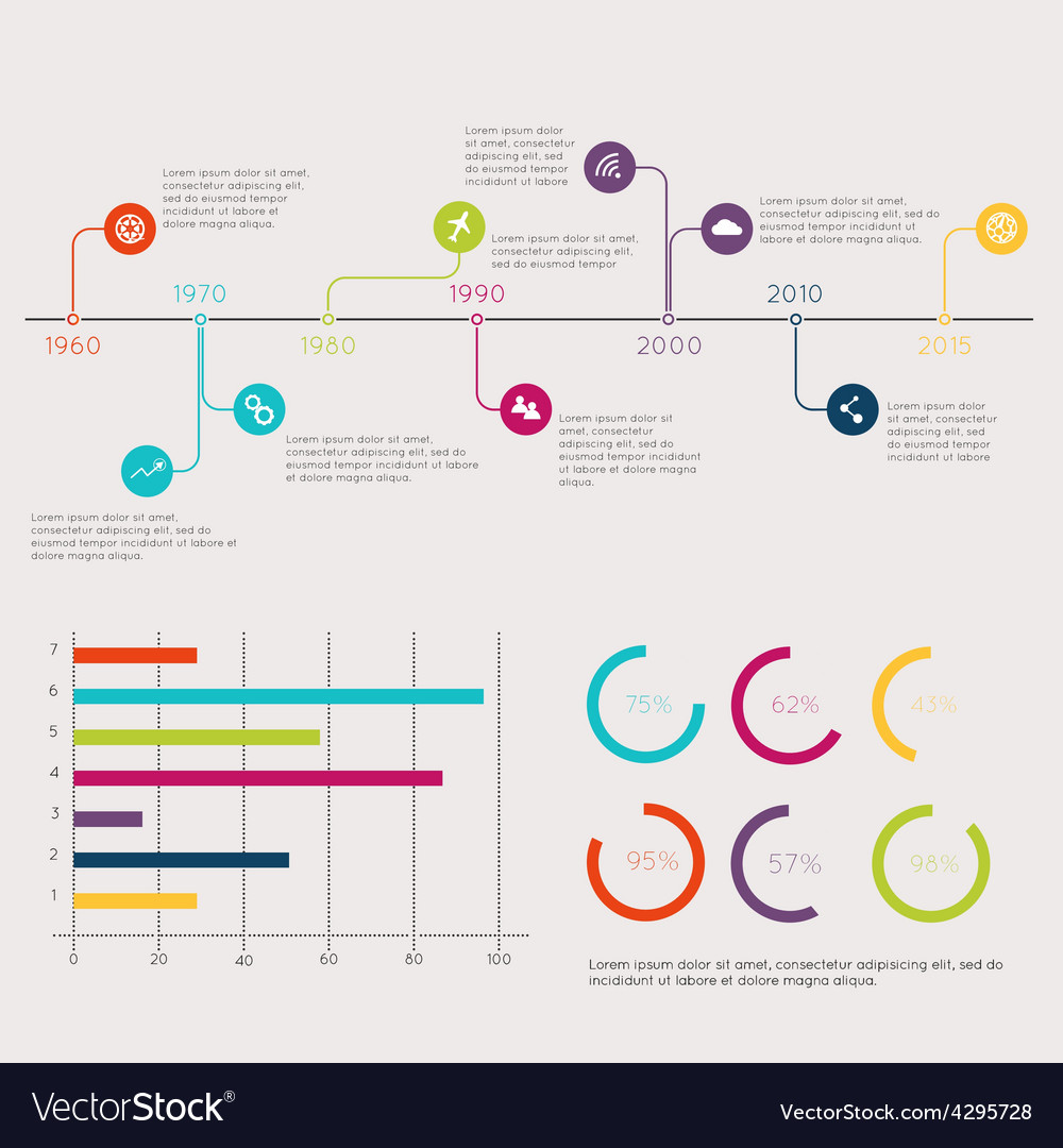 set of timeline infographic design templates vector by lesia g image