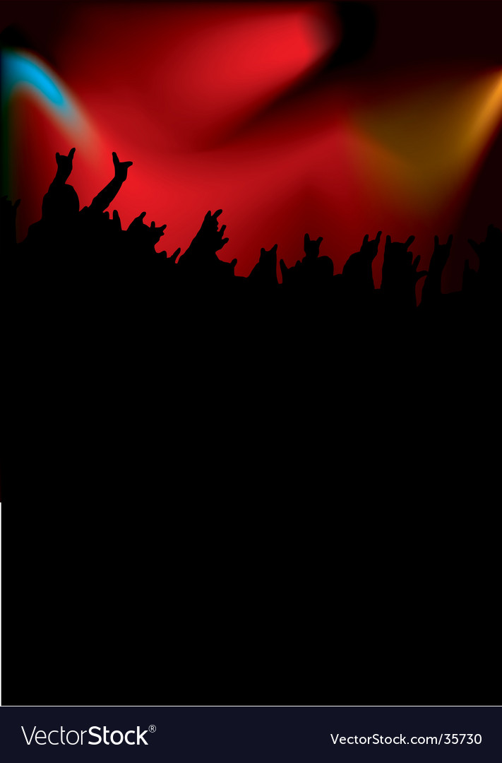 Rock concert tall vector