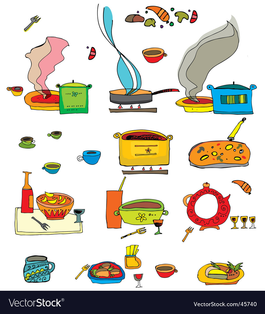 Colorful food vector