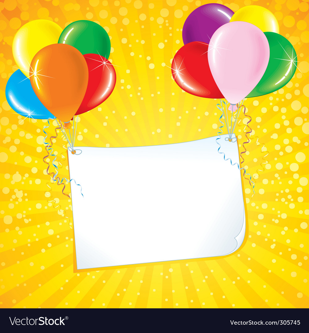 Celebration card vector