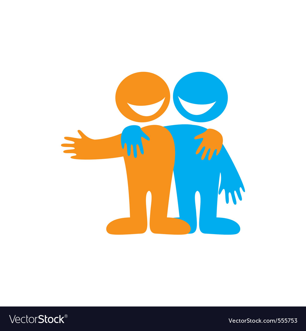 Symbol of friendship vector