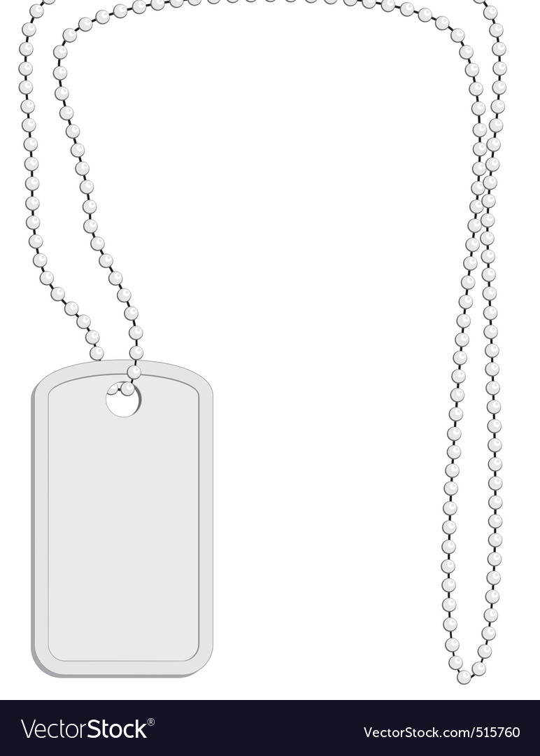 Military identity tag vector