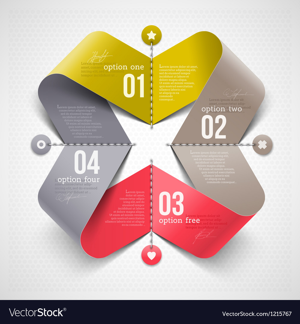 Abstract shape with infographics elements vector