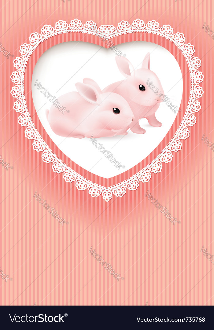 Two rabbits vector