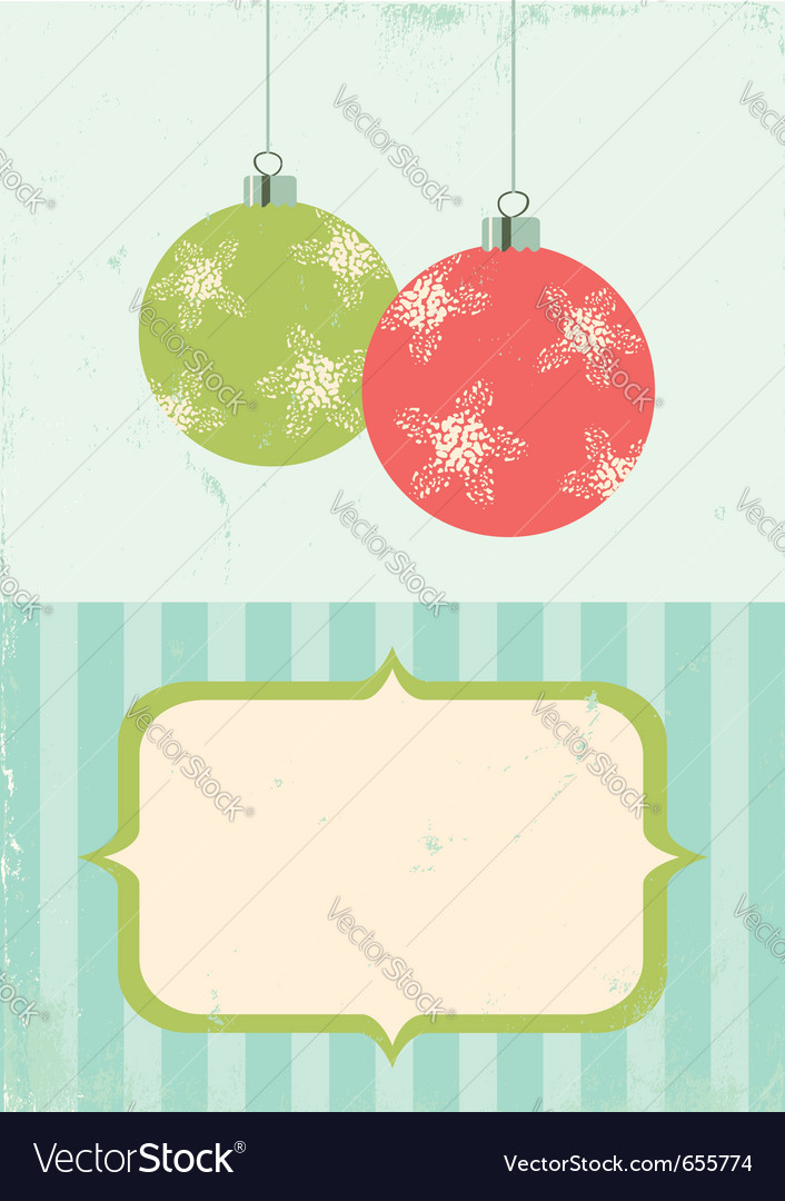 Retro of christmas balls vector