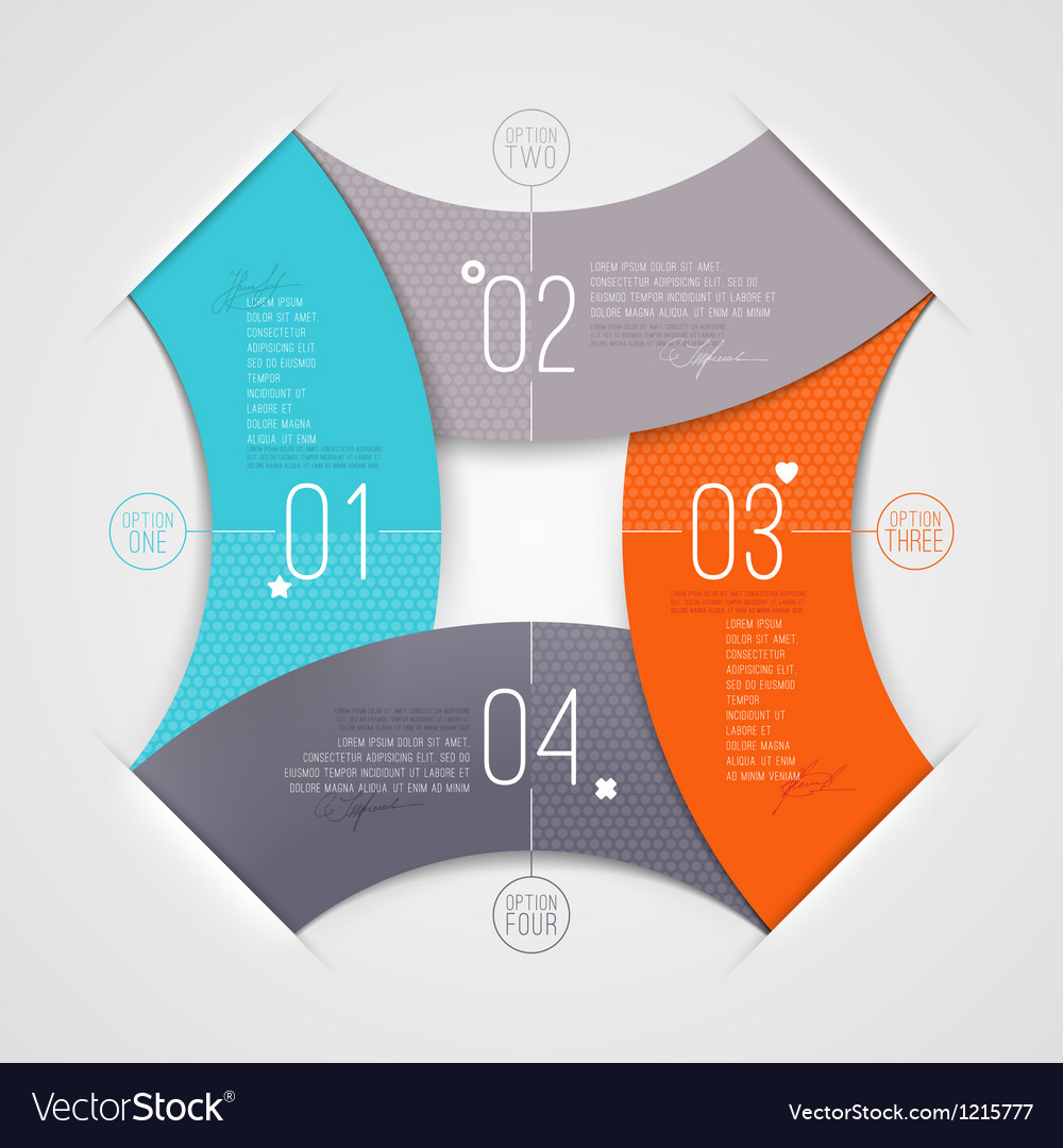 Abstract infographics with numbered elements vector