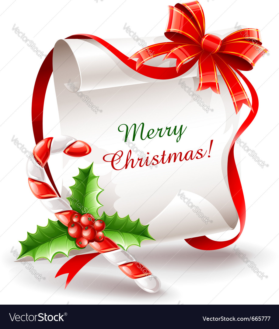 Christmas greeting card with vector