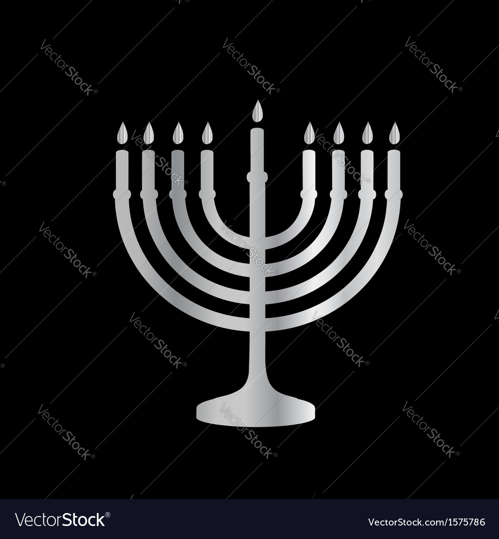 Judaism menorah vector