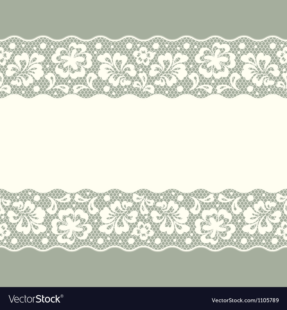 Seamless lace pattern flower vintage background vector
