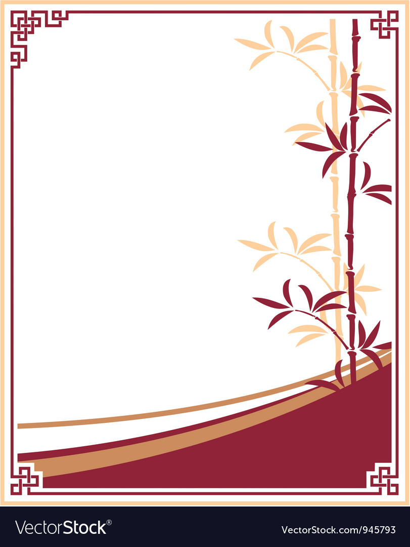 Oriental  chinese  template frame vector