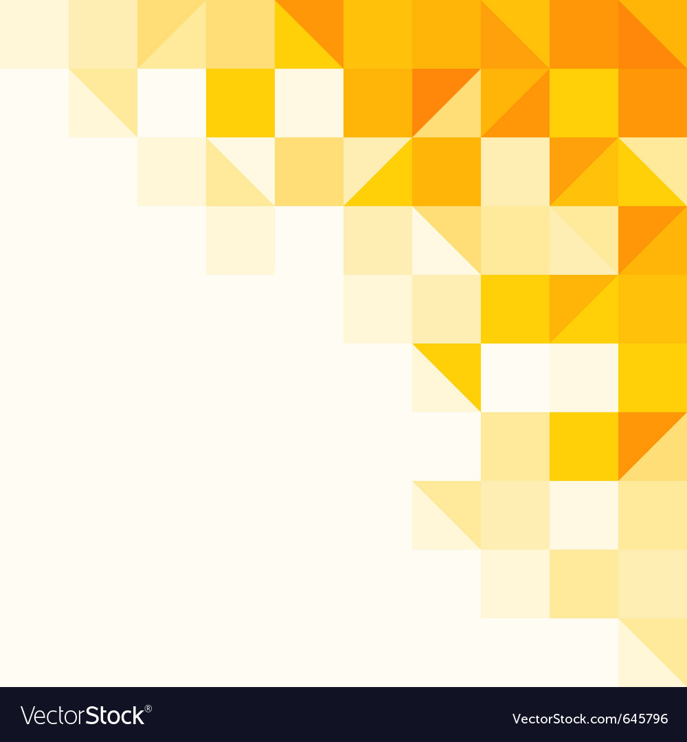 Yellow abstract pattern vector