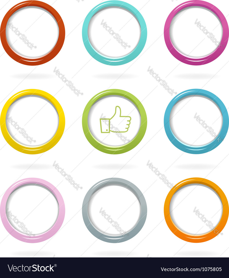 Colorful web bubbles set vector