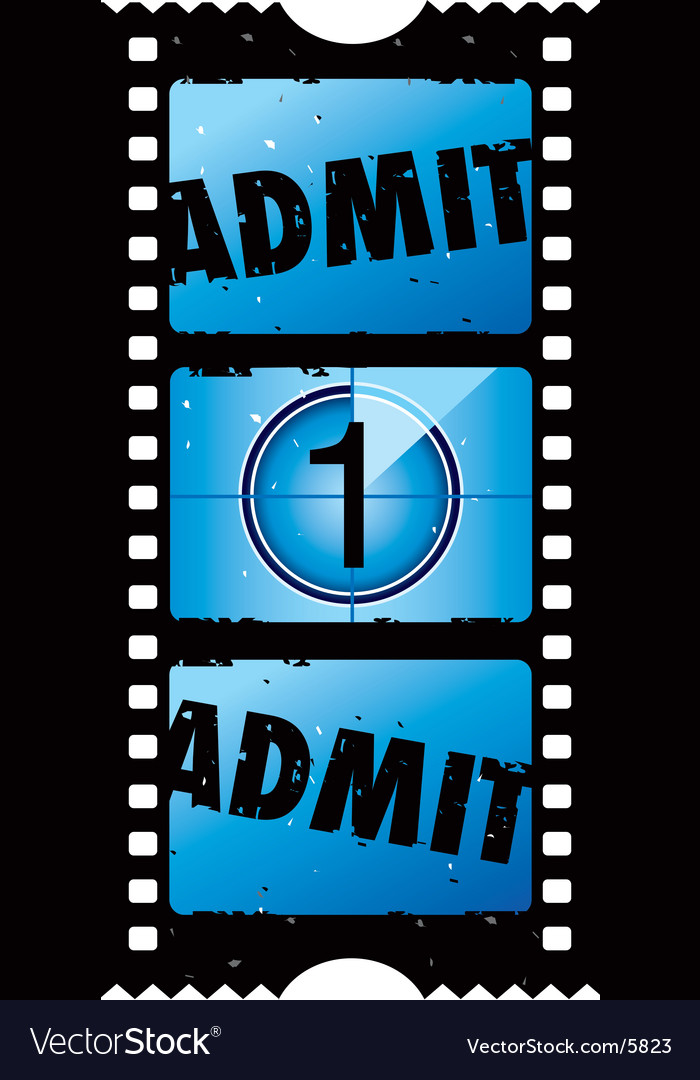 Movie ticket vector