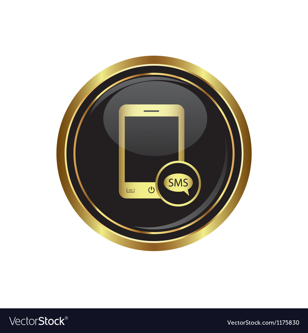 Phone icon with sms menu vector