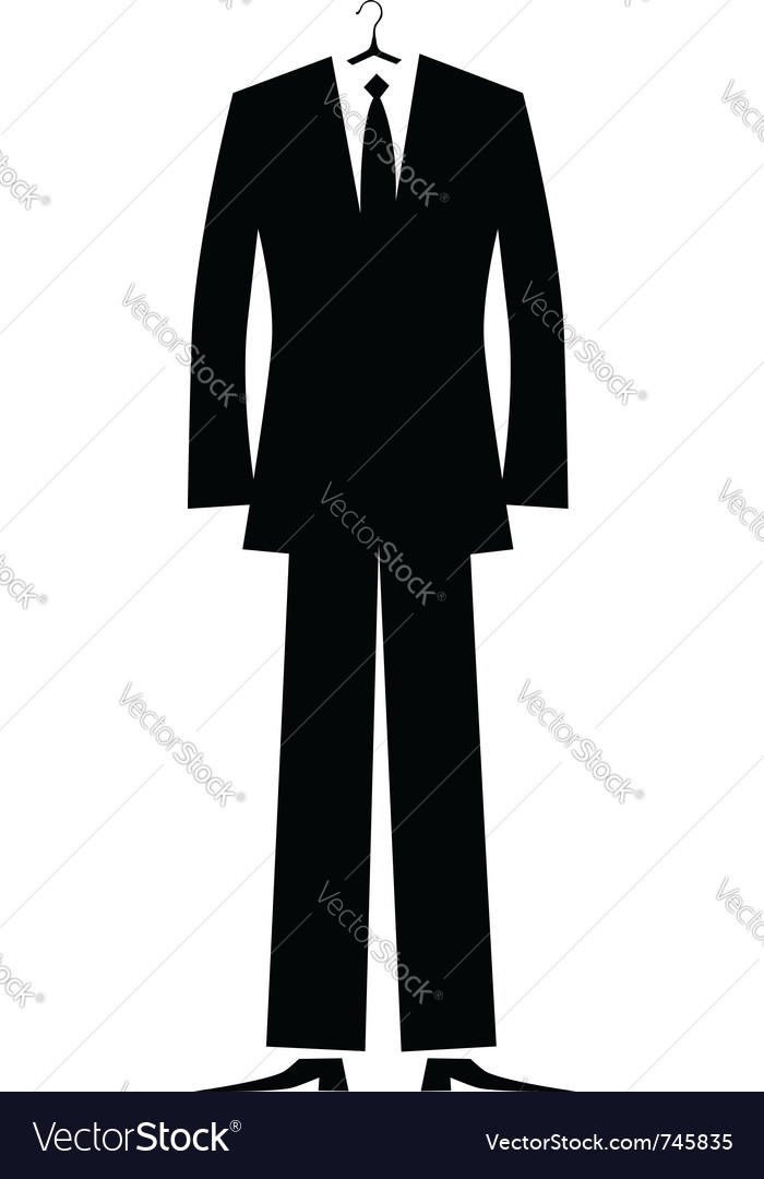 Mans suit for your design vector