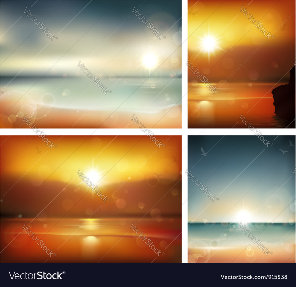 Summer backgrounds vector