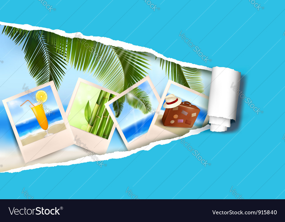 Photo ripped papper vector