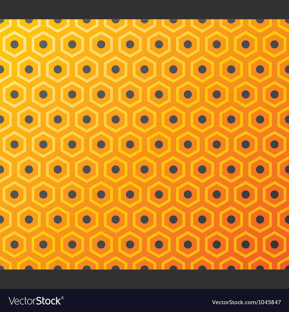 Seamless honeycomb pattern vector