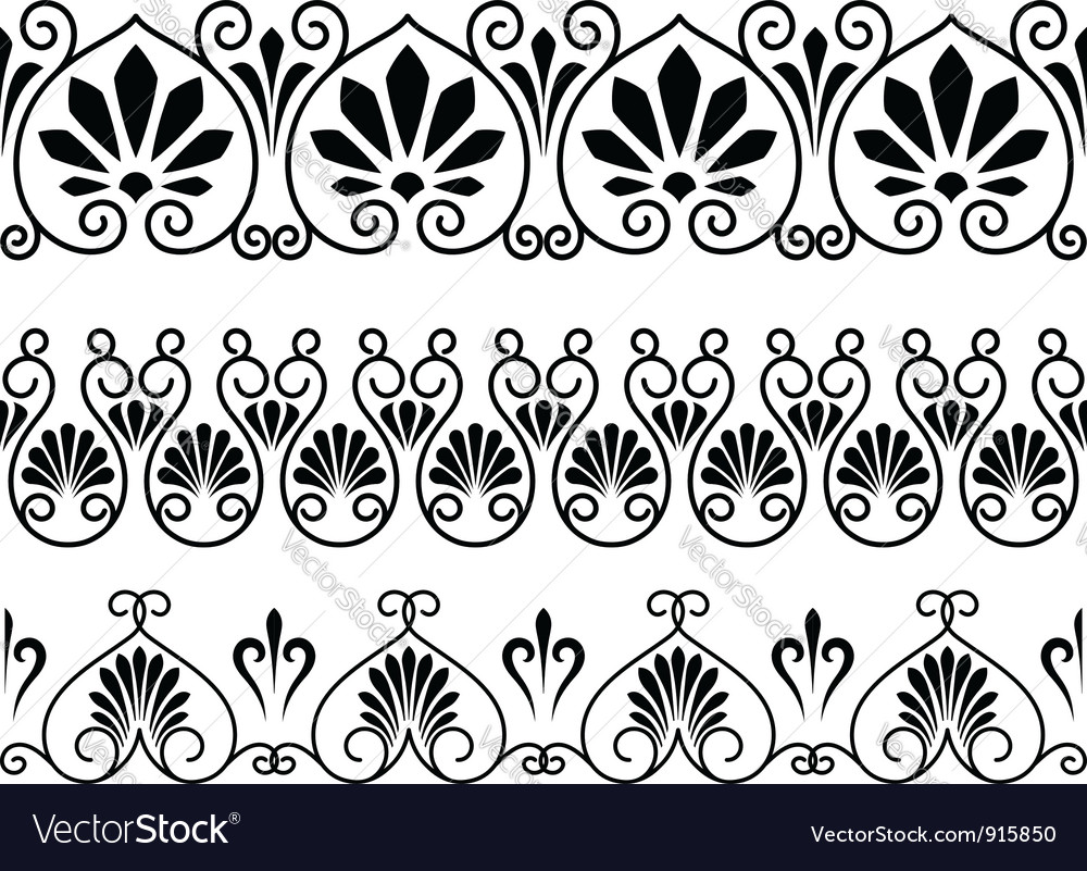 Set of floral vintage embellishments vector