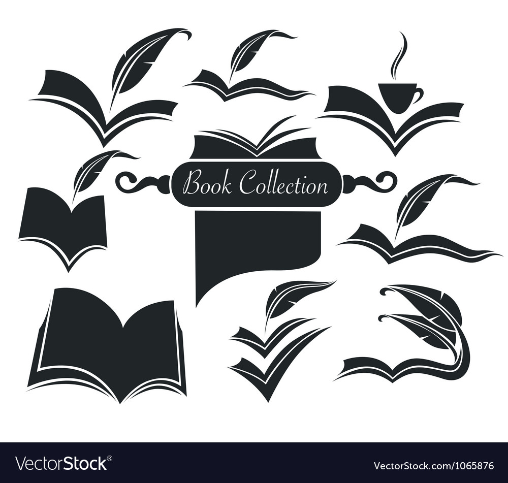 Old books parchment poetry and literature vector